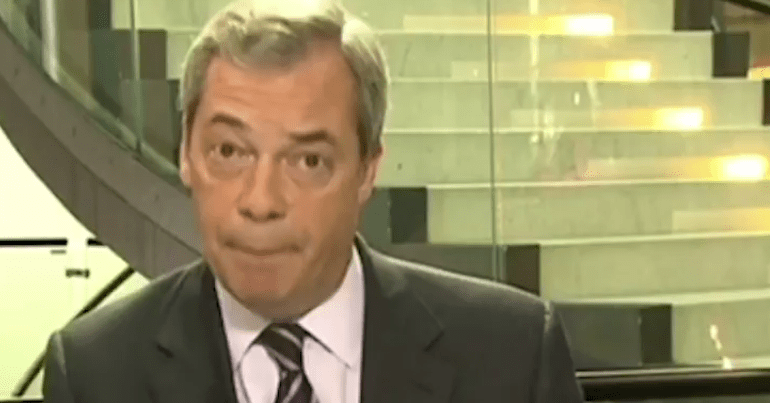 Farage's latest idea is going down like a plate of cold sick with Brexit voters