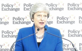 For the second time, Theresa May gave a speech and the set started to collapse