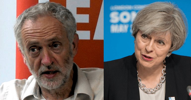 Corbyn and May Trump's migrant policy