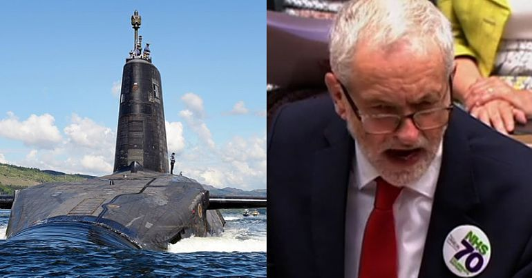 A nuclear submarine and Jeremy Corbyn