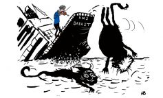 Davis and Johnson leave the sinking ship [CARTOON]