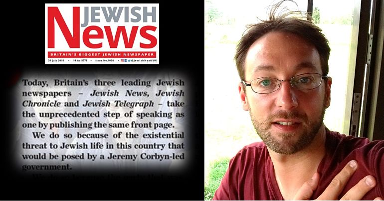 Screenshot of Jewish News editorial, Stephen Oryszczuk