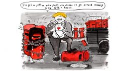 Boris Johnson reveals his true colours [CARTOON]