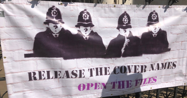 Banner saying release the cover names