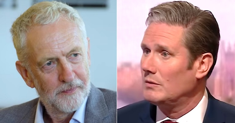 Jeremy Corbyn and Keir Starmer Labour leadership