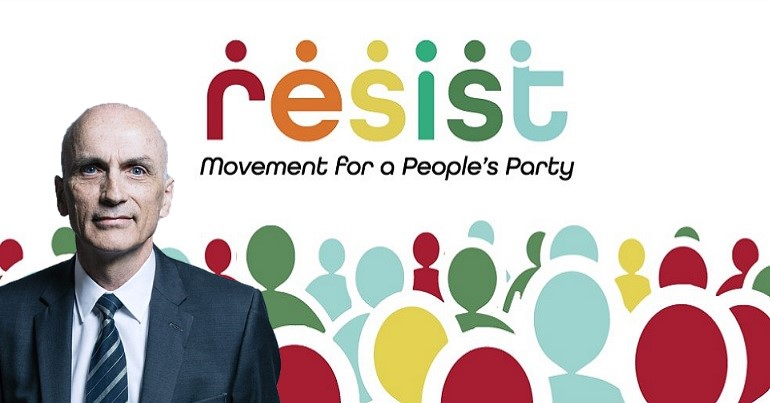 Resist Logo and Chris Williamson