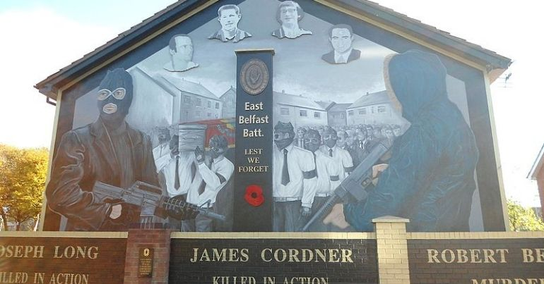 A mural in Northern Ireland