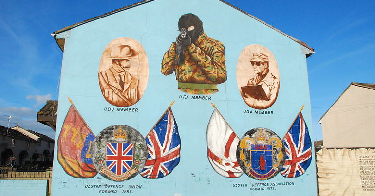 A loyalist mural in Belfast