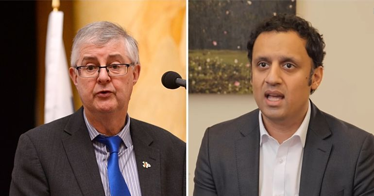 Mark Drakeford (Welsh Labour) & Anas Sarwar (Scottish Labour)