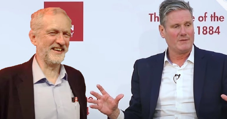 Keir Starmer with Jeremy Corbyn